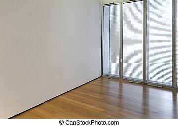 finestra, stanza, vuoto