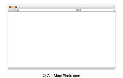 finestra, vuoto, browser