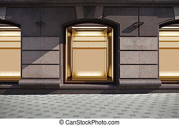 finestra, vuoto, mostra