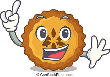 Finger apple pie isolated in the mascot