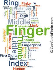 Finger background concept