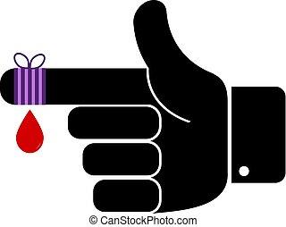 Finger Bandage Vector