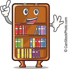 Finger cartoon bookcase in the study room