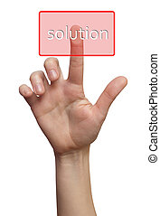 Finger choice Solution button