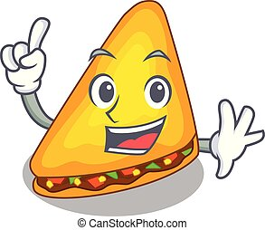 Finger cooked quesadillas parts with a cartoon vector ...