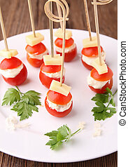 finger food - cherry tomato and cheese
