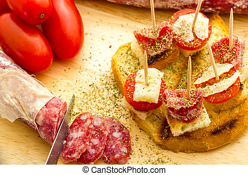 Finger food salami