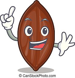 Finger fresh pecan nuts isolated on mascot vector...
