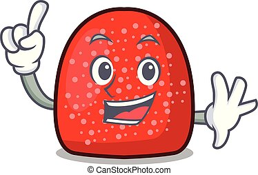Finger gumdrop mascot cartoon style vector illustration