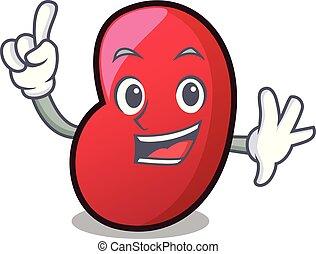 Finger jelly bean mascot cartoon vector illustration
