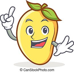Finger mango character cartoon mascot vector art