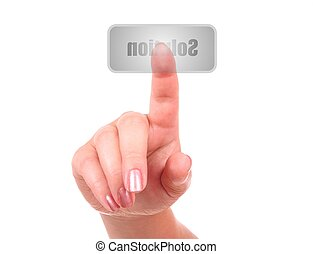 Finger on button: Solution