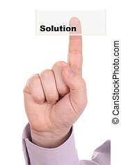 finger on button solution