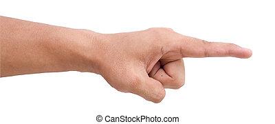 finger, peka