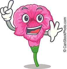 Finger petunia in a mascot flower basket