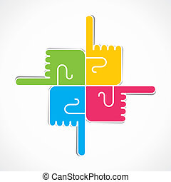 finger point every direction stock vector