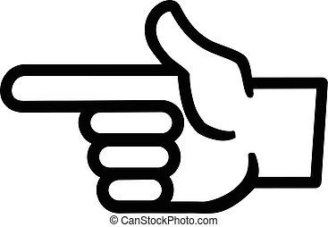 Finger Point Vector Icon