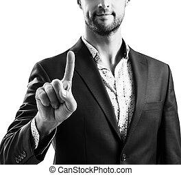 finger., pointage homme, costume