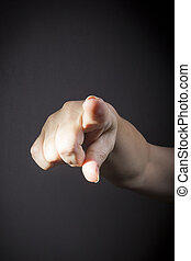 Finger pointing at you