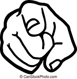 cartoon hand pointing finger at you a cartoon hand pointing a rh canstockphoto com cartoon pointing finger at other people cartoon pointing finger images