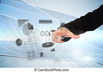 Finger pointing to data interface