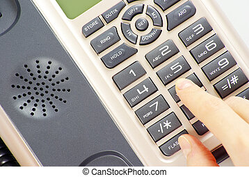phone - finger presses figure on a phone