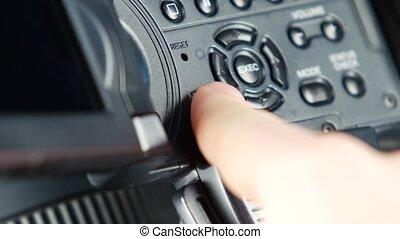 Finger pressing button like menu couple times
