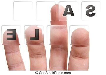 finger pressing button