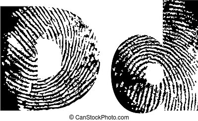 finger print alphabet