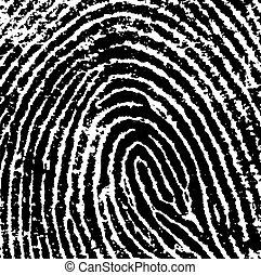 Finger Print Crop 8 - Black and White Vector Fingerprint ...