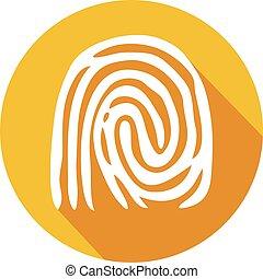 finger print flat icon