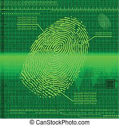 Finger print green - Green fingerprint background. eps10