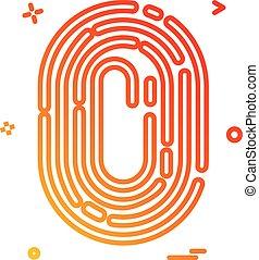 Finger print icon design vector