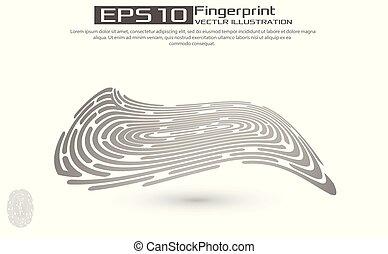 Finger print identity logo illustration isolated on white background