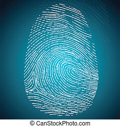 illustration of impression of finger print on abstract background