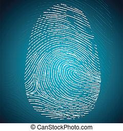 Finger Print - illustration of impression of finger print on...