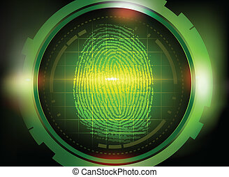 finger print on scanner