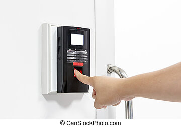 Finger print scan for unlock door security system