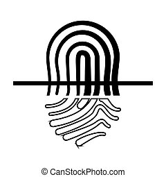 finger print security icon vector illustration