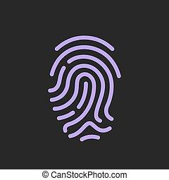 Finger print vector icon