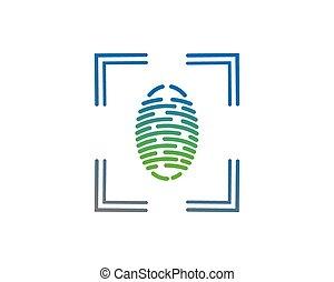 Finger print vector icon illustration design