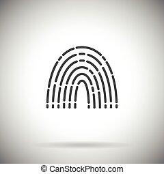 Finger print vector icon Simple fingerprint symbol