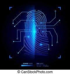 Finger Print Verification Illustration