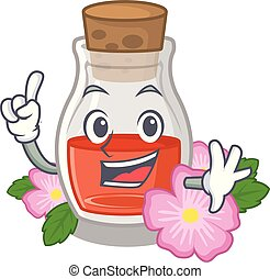 Finger rosehip seed oil on a mascot