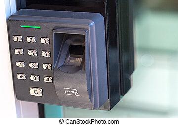 finger scan security door key lock.