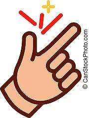 finger snap icon ok symbol snapping logo