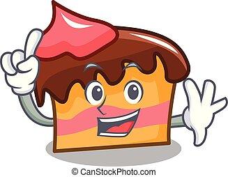 Finger sponge cake mascot cartoon vector illustration