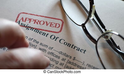 Finger tapping on assignment of contract