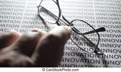 Finger tapping on innovation text