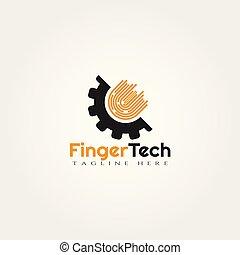 finger technology vector logo design